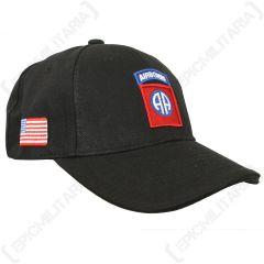 Black US 82nd Airborne Baseball Cap