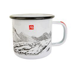 White Enamel Outdoors Mug - 450 ml