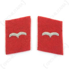 Luftwaffe Flak Division Flieger Collar Tabs - Red
