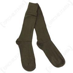 Original Italian Army Surplus Woollen Socks - Olive Green