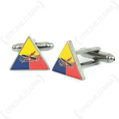 Front of American Armoured Division Cufflinks facing left