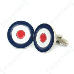 British RAF Roundel Cufflinks - front