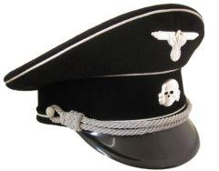 German Allgemeine Officer Peaked Cap - Cotton Piping