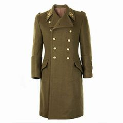 Hungarian OD Coat with Gold Buttons