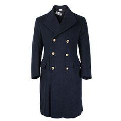 Italian Airforce Overcoat - Blue Grey