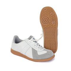 German Army Style Indoor Sports Trainers - White