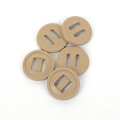 British Army Style 19mm Slotted Buttons - Khaki