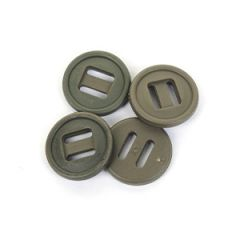 British Army Style 19mm Slotted Buttons - Olive
