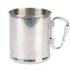 Stainless Steel Mug with Carabiner Handle