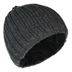 Heavy Knit Lined Beanie - Grey