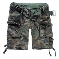 Brandit Savage Cargo Shorts - Woodland