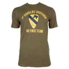 1st Cavalry T-Shirt - Olive Green
