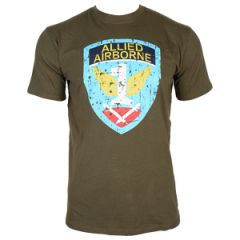 Allied Airbourne T-Shirt - Olive Green