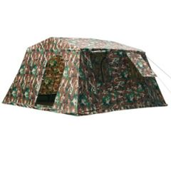 Military Style Large Tent - Woodland Camo