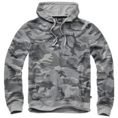 Brandit Hooded Sweat Shirt - Grey Camo