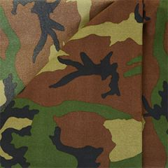 US Army Woodland Camo Fabric - 160cm x 100cm