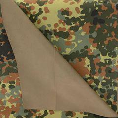 German Flecktarn Camo 3 Layer Wet Weather Fabric - 140cm x 100cm