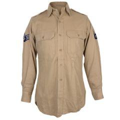 Original US Khaki Cotton Shirt - 36R