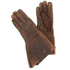 Original Belgian Leather Motorcycle Gloves - Brown