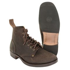 British WW1 B5 Leather Boots with Rubber Sole