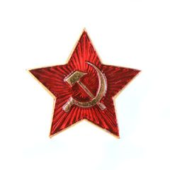 Soviet Red Star Cap Badge - Large