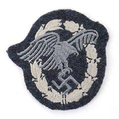WW2 German Cloth Luftwaffe NCO Observer Badge
