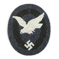 WW2 German Unqualified Cloth Luftwaffe Air Gunner Badge