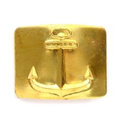 Soviet Anchor Belt Buckle - Gold