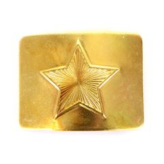 Belarusian Star Belt Buckle - Gold
