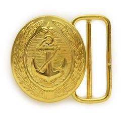 Soviet Anchor Oval Belt Buckle - Gold