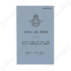 WW2 British RAF ID Card
