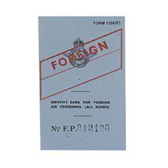 WW2 Foreign RAF ID Card
