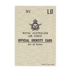 WW2 Australian Air Force ID Card