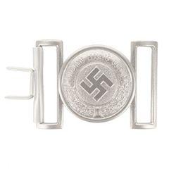 WW2 German Police Officer Silver Belt Buckle
