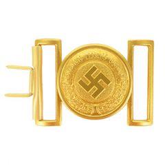 WW2 German Police Officer Gold Belt Buckle