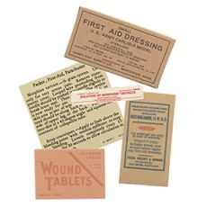 WW2 US Parachute Pack First Aid Kit