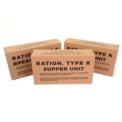 WW2 US K-Ration Ration Box Set