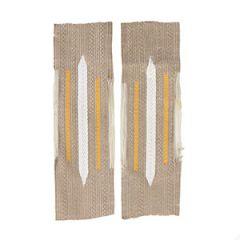 Coastal Artillery Bevo Litzen Collar Tabs - Yellow