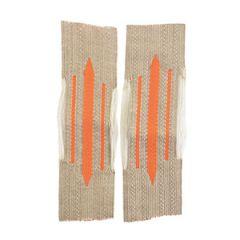 Feldgendarmerie Bevo Litzen Collar Tabs - Orange