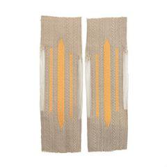 Afrika Corps Bevo Litzen Collar Tabs - Yellow