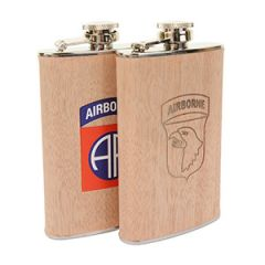 Wood Effect Stainless Steel Hip Flask 5oz