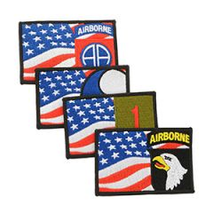 WW2 Themed Military Flag Patches