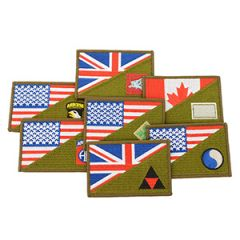WW2 Themed Half Flag Military Patches