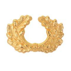 Metal Army Peaked Cap Wreath - Gold