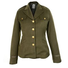 WW2 American Womens Class A WAC Officers Service Jacket - Olive Drab