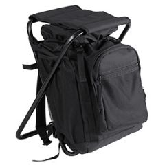 Backpack With Integrated Chair - Black