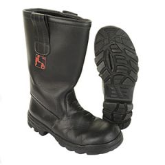 Original German Baltes Leather Firefighting Boots with Steel Toe Cap - Type 2