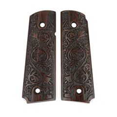 American Engraved Wooden Colt Grips