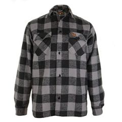 Grey Lumberjack Flannel Shirt