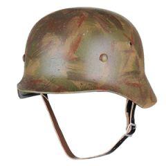 German M35 SS Helmet Battle Worn - 62/63 cm